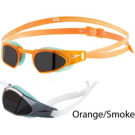 Orange/Smoke - Speedo FastSkin Prime Mirrored Goggles