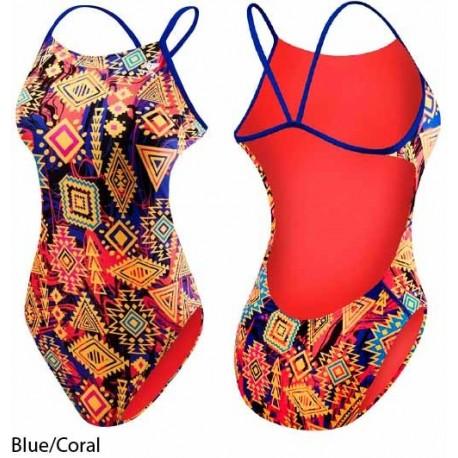 Blue/Coral - Costume donna Santa ANA TYR