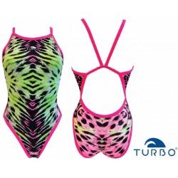 Swimsuit woman Green Animal Turbo