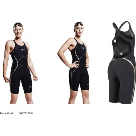 LZR Racer X Open Back Kneeskin Speedo 2018 - Black/Gold