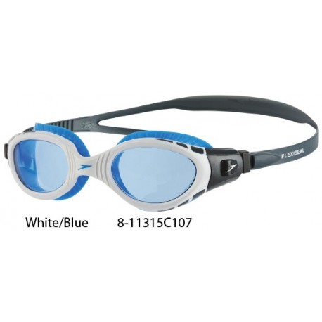White/Blue - Occhialini Speedo Biofuse Futura Flexiseal