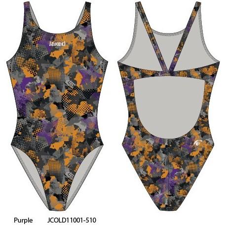 Purple - Costume intero donna Teknocamou Jaked