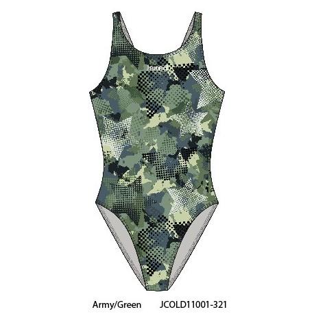 Army/Green - Jaked Womens Swimwear Teknocamou Jaked