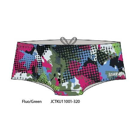 Fluo/Green - Costume uomo Teknocamou Trunk Jaked