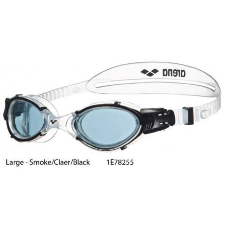 Large - Smoke/Claer/Black - Arena Nimesis Crystal Goggle