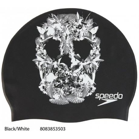 Black/White - Cuffia Slogan Print Speedo - 2018