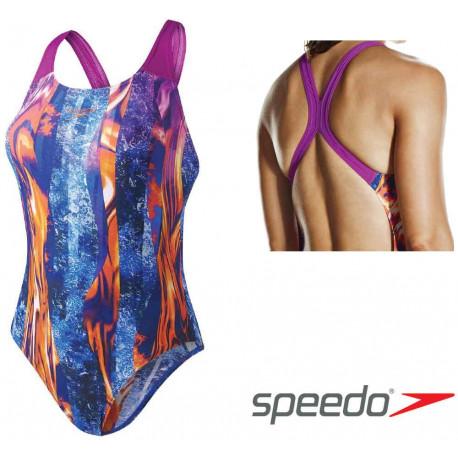 Women's  LavaFlow Digital Allover Powerback Swimsuit Speedo