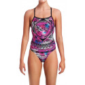 Front - Funkita Skull Swim One Piece