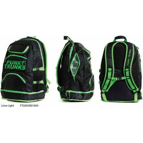 Lime Light - Funky Trunks Backpacks 36 L