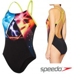 Women's Lunar Vision Placement Digital Powerback Swimsuit Speedo