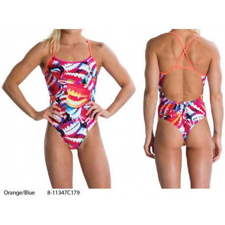 Orange/Blue - Women's Flipturns Crossback Swimsuit Speedo