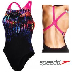 Women's Solar Fizz Placement Digital Powerback Swimsuit Speedo