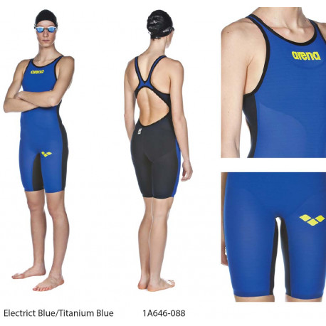 Electrict Blue/Titanium Blue - Powerskin Carbon Air donna aperto/chiuso