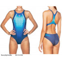 Navy/Aphrodite - Swimsuit Woman One Placed Print Arena