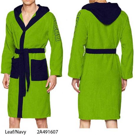 Leaf/navy - ZEBU Arena bathrobe