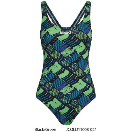 Black/Green - Costume intero donna TRACK Jaked