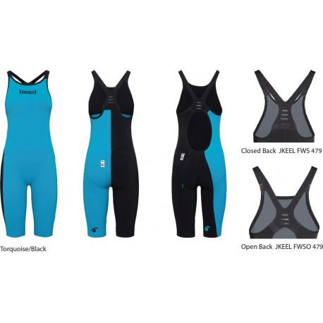 Jaked J-Keel Knee Suit - torquoise/black