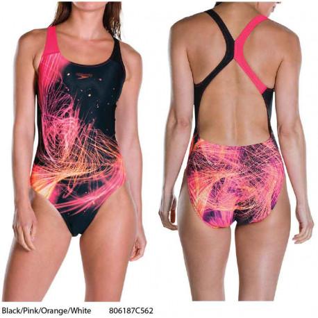Speedo HeatShine Placement Digital Powerback Swimsuit