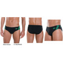 Black/Green - Boom Splice Brief Speedo