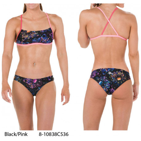 Black/Pink - Flipturns Two Piece Crossback Speedo - collezione 2019