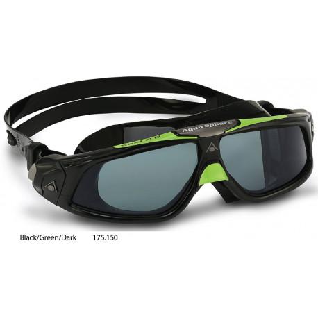 Black/Green/Dark - Aqua Sphere Seal 2.0