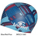 Blue/Red Fluo - Jaked Tracks Swim Cap