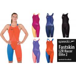 Speedo Fastskin LZR Elite 2 Kneeskin  Open Closed Back women's competition swimwear