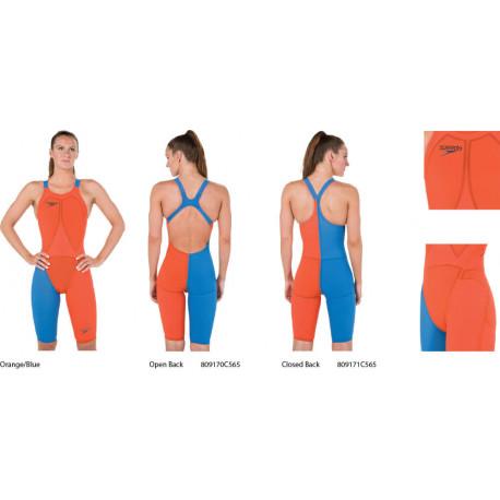 Speedo Fastskin LZR Elite 2 Kneeskin - Orange/Blue