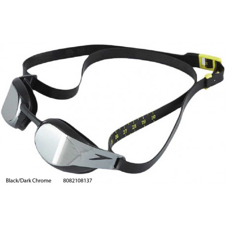 Black/Dark Chrome - Fastskin 3 Elite Mirror Speedo