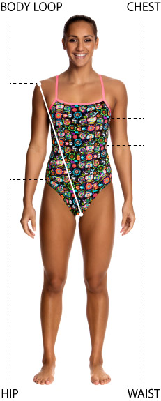Funkita womens swimwear size guide